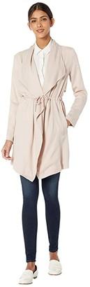 BB Dakota Let It Rain Lyocell Trench Coat (Parchment) Women's Clothing