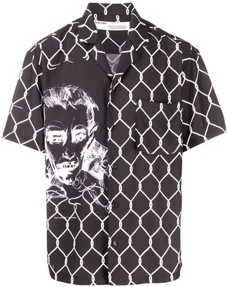Off-White Metal Fence Print Shirt