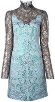 Lanvin glitter effect fitted dress - women - Silk/Polyamide/Polyester/Viscose - 38