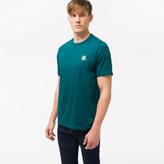 Paul Smith Men's Teal Organic-Cotton Flocked PS Logo T-Shirt