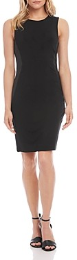 Karen Kane Faux-Leather Side-Panel Dress