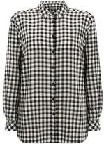 Mint Velvet Black & Ivory Gingham Shirt