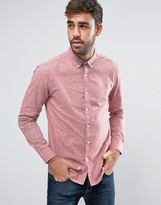 Farah Steen 2 Color Shirt Slim Fit Buttondown Oxford in Red