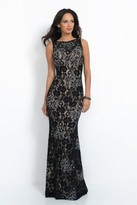 Intrigue - Sleeveless Embellished Lace Overlay Gown 41