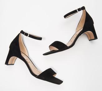 Sam Edelman Leather Ankle Strap Heeled Sandals - Holmes