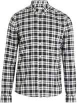 Ami Point-collar checked cotton shirt