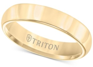 Triton Domed Comfort Fit Band in Yellow Tungsten Carbide