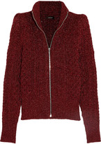 Isabel Marant Daley Cable-knit Lurex Cardigan - Claret