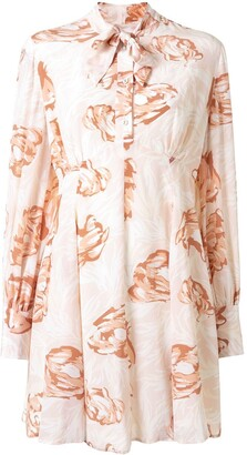 Karen Walker Gardenesque floral-print silk dress