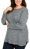 Karen Scott Plus Size Cotton Boat Neck Sweater, Created For Macy's