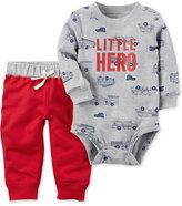 Carter's 2-Pc. Cotton Little Hero Bodysuit & Jogger Pants Set, Baby Boys (0-24 months)