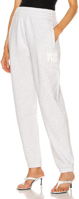 Alexander Wang Foundation Terry Classic Sweatpant in Light Heather Grey | FWRD