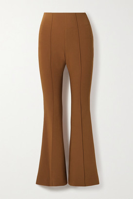 Low Classic Cropped Cady Flared Pants - Brick