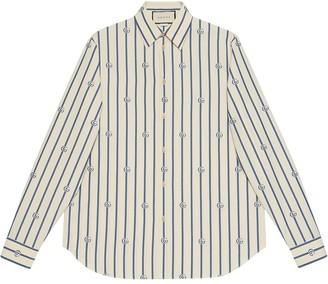 Gucci Double G stripe shirt