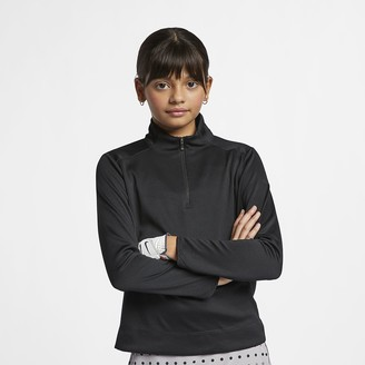 Nike Big Kids' (Girls') Long-Sleeve 1/4-Zip Golf Top Dri-FIT