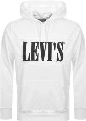 Levi's Levis Pieced Logo Hoodie White