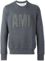 Ami Alexandre Mattiussi textured logo sweatshirt