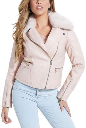 GUESS Tasha Faux-Leather Moto Jacket