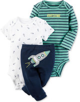 Carter's 3-Pc. Awesome Bodysuits & Pants Set, Baby Boys (0-24 months)