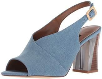 Nine West Women's MORENZO Denim Heeled Sandal