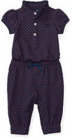 Ralph Lauren Dotted Cotton Polo Coverall