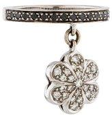 Ring 18K Diamond Flower Charm