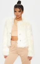 4fashion Cream Faux Fur Jacket
