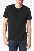 7 For All Mankind Short Sleeve Crewneck In Nep Black