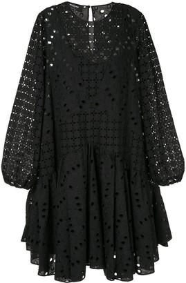 Rochas Perforated Midi Dress