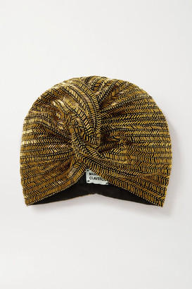 MaryJane Claverol Marbella Bead-embellished Stretch-cotton Turban