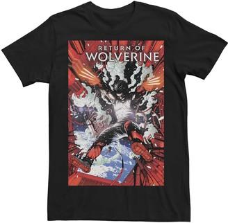Wolverine Men's Marvel's Return Of #5 Comic Cover Tee
