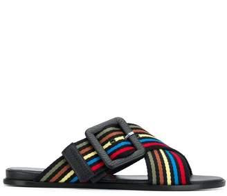 Sonia Rykiel cross buckle flat sandals