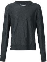 Maison Margiela creased effect jumper - men - Cotton/Metallized Polyester - S