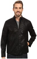 Perry Ellis Faux Leather Texture Bomber