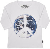 Munster Earth & Peace Sign Graphic T-Shirt-WHITE