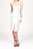 Donna Mizani Front Slit Strapless Dress In Croc