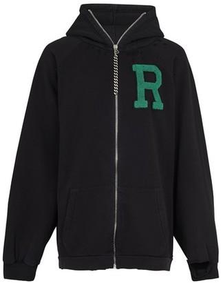 Raf Simons Logo zipped hoodie