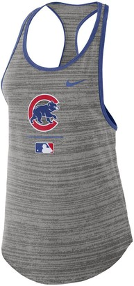 Nike Women's Gray Chicago Cubs Authentic Collection Velocity Team Issue Racerback Tank Top