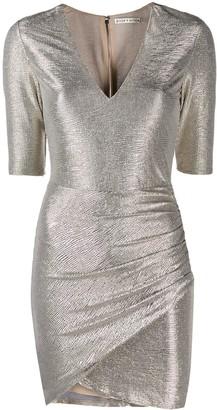 Alice + Olivia Textured Metallic Dress