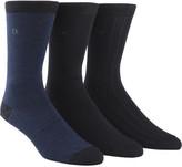 Calvin Klein 3 Pk Nailhead/Rib/Solid Sock