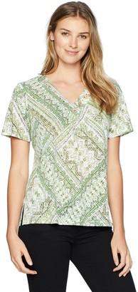 Alfred Dunner Women's Ethnic Patchwork tee Shirt