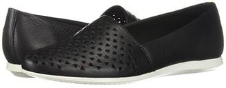 Ecco Touch Perf Ballerina 2.0 (Black) Women's Slip on Shoes