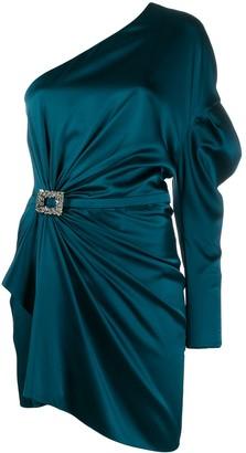 Alexandre Vauthier gathered one-shoulder mini dress