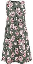 Love Moschino Flared Floral-print Stretch-cotton Mini Dress