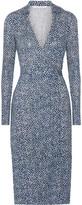 Diane von Furstenberg Cybil Printed Silk Wrap Dress - Bright blue