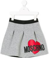 Moschino Kids - heart logo skirt - kids - Polyester/Spandex/Elastane/Viscose - 4 yrs