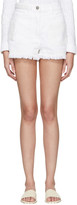 Valentino White Denim Butterfly Shorts