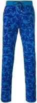 Versace Baroque track pants - men - Cotton/Lamb Skin - XS
