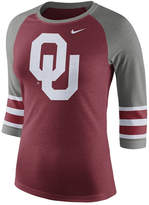 Nike Women's Oklahoma Sooners Team Stripe Logo Raglan T-Shirt