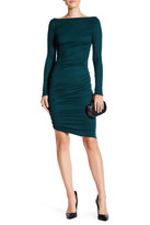Rachel Pally Long Sleeve Side Ruched Ribbed Dress